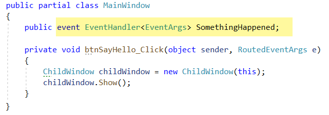main Window Code