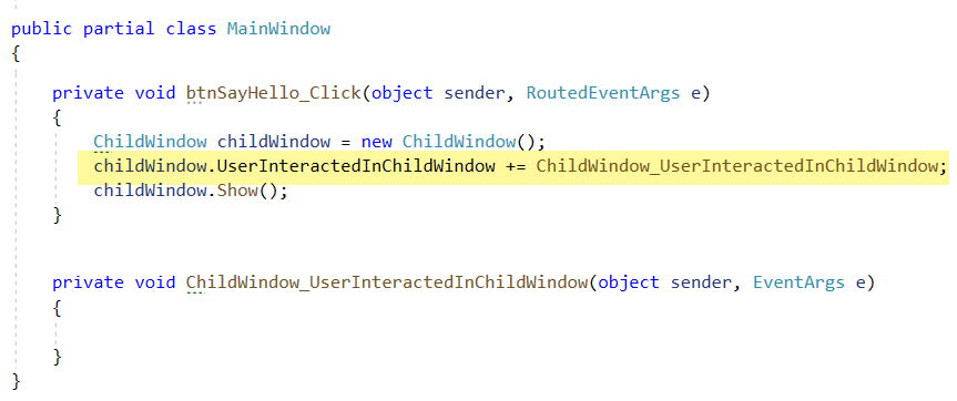 main Window Code Without Event