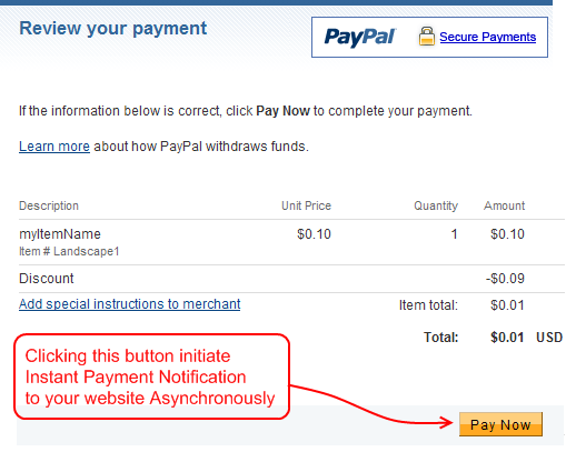 pay Now Page