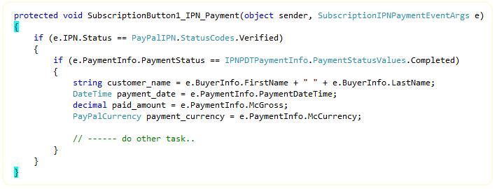 ipn Payment Handler Demo