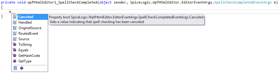SpellCheckCompleted event