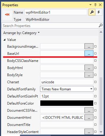 Base URL property