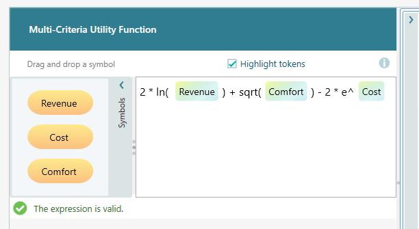 Multi Criteria Utility Function