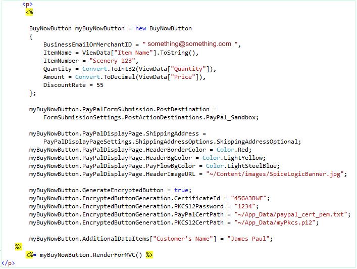 ASP.NET MVC Example